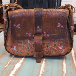 Vintage Mexican Tooled Leather Purse